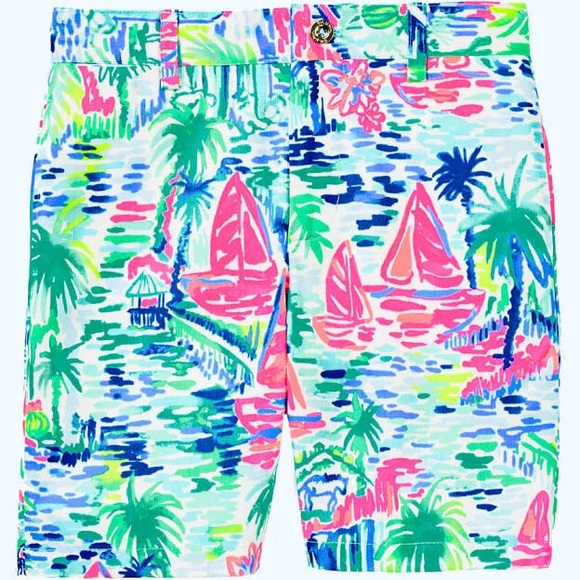 Lilly Pulitzer Other - Lilly Pulitzer Beaumont Shorts Salt In The Air NWT
